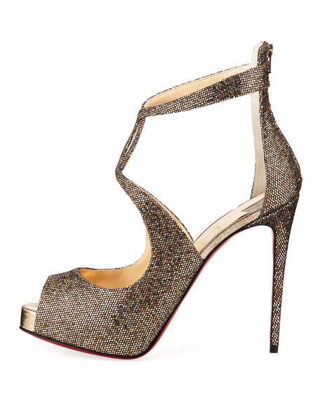 Rosie Glitter Platform Red Sole Sandals