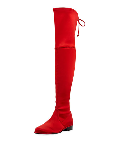 Lowland Satin Over-The-Knee Boot