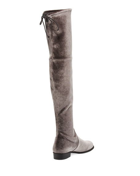 Lowland Velvet Over-The-Knee Boot