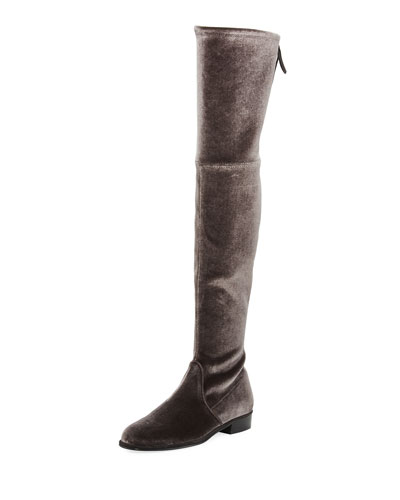 Stuart Weitzman Lowland Velvet Over-The-Knee Boot