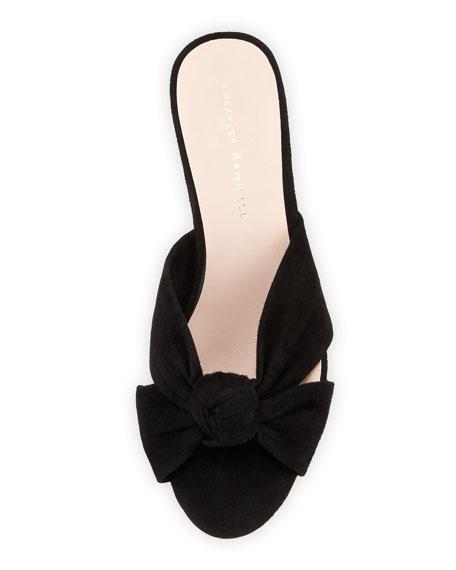 Celeste Suede Block-Heel Slide Sandal