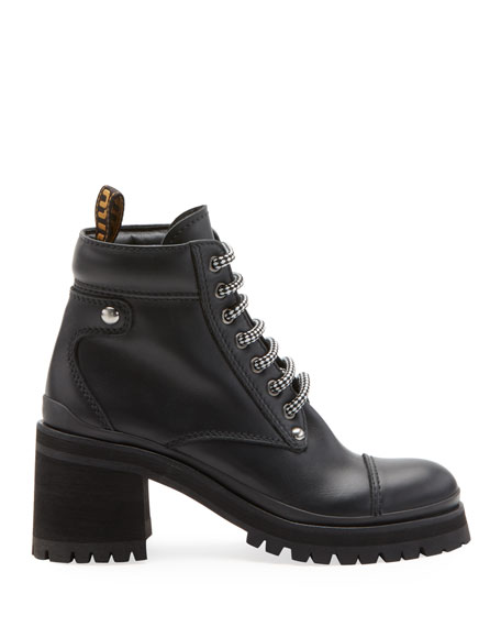 Leather Platform Hiker Boot