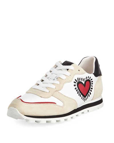 x Keith Haring Heart Runner Leather/Suede Sneaker