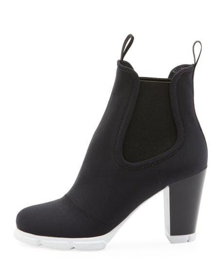 Neoprene Platform Ankle Booties