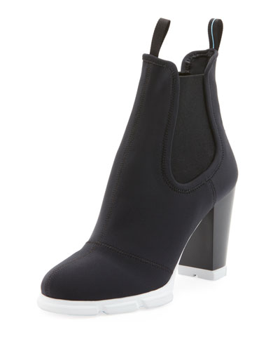 Neoprene Platform Ankle Booties