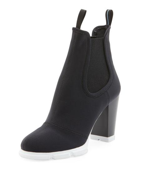 Neoprene Platform Ankle Bootie