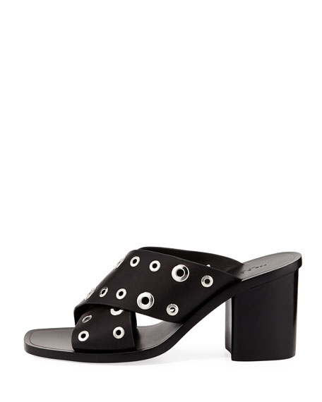 Paige Crisscross Slide Sandal, Black