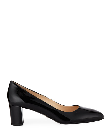 Patent Leather Round-Toe 55mm Pump