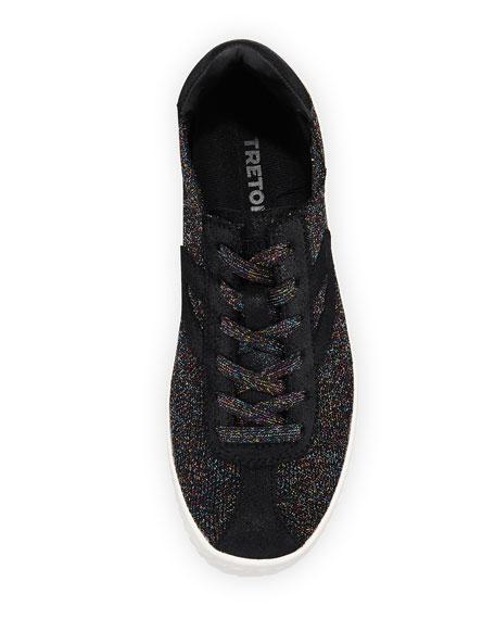 Glittered Knit Platform Sneaker