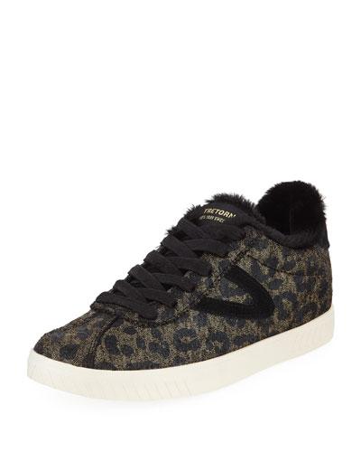 Callie Crackled Platform Sneakers