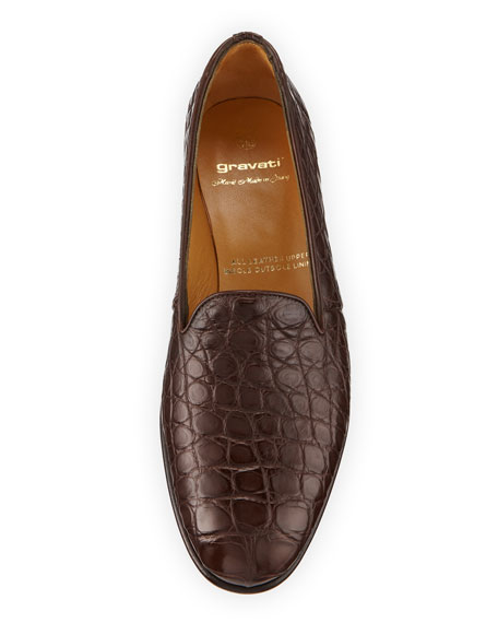 Alligator Slip-On Loafers
