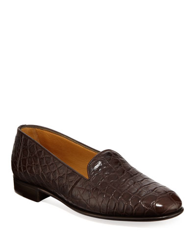 Alligator Slip-On Loafers