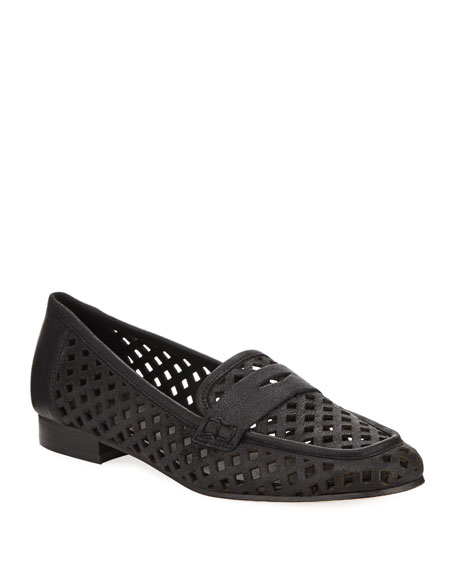 Sesto Meucci Mela Perforated Murales Leather Loafer