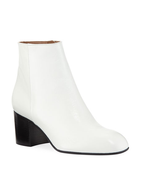 LAURENCE DACADE Selda Smooth Calf Booties in White