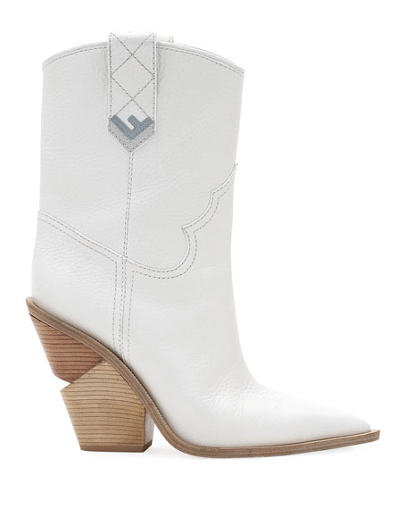 Short Leather Western Booties