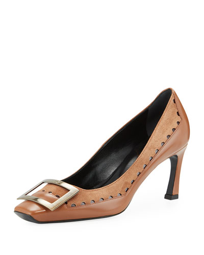 Trompette Graphic Dots Mid-Heel Pumps