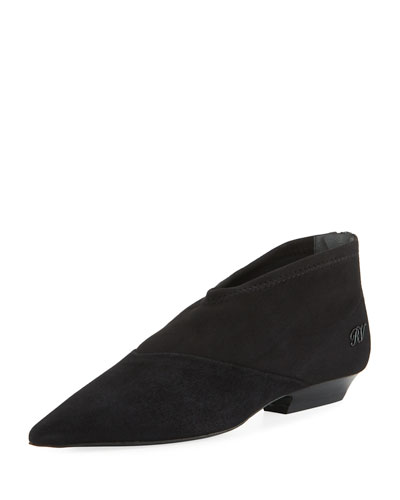 V Suede Stretch Booties