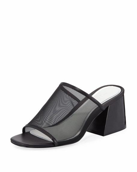 Rag & Bone Emmy Mesh Block-Heel Slide Sandal