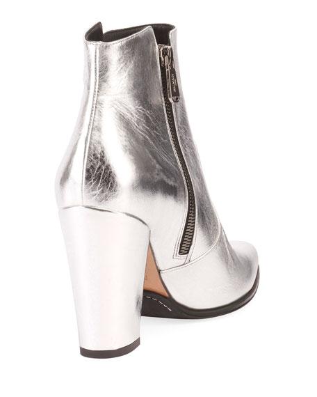 Anthea Metallic Double Zip Booties
