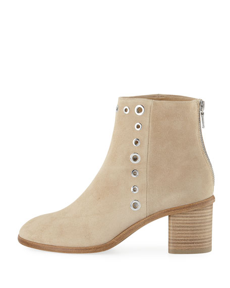 Willow Suede Grommet Booties