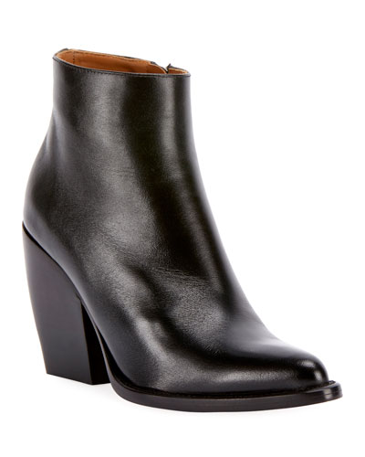 Rylee Western Leather Block Bootie