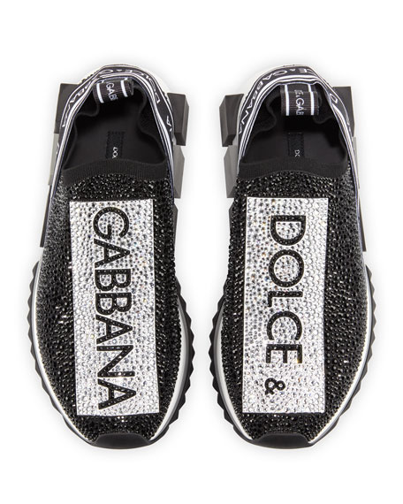 Crystal Logo Slip-On Trainer Sneaker