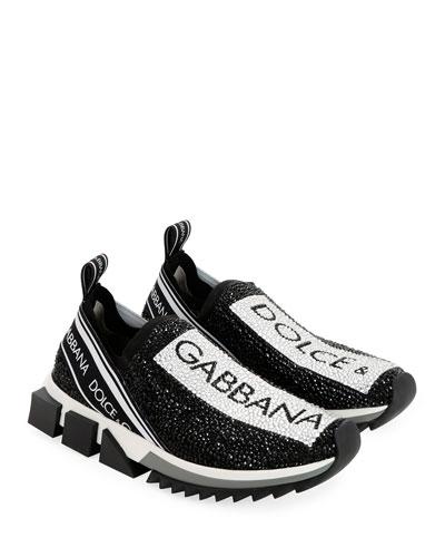 Crystal Logo Slip-On Trainer Sneaker