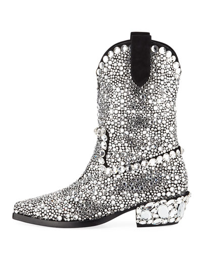 Dolce & Gabbana 30mm Crystal Western Boot