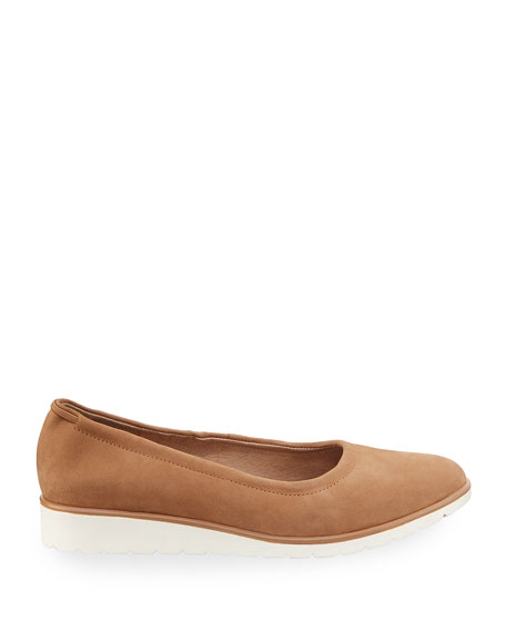 Honest Easy Leather Sneaker-Bottom Slip-On Flat