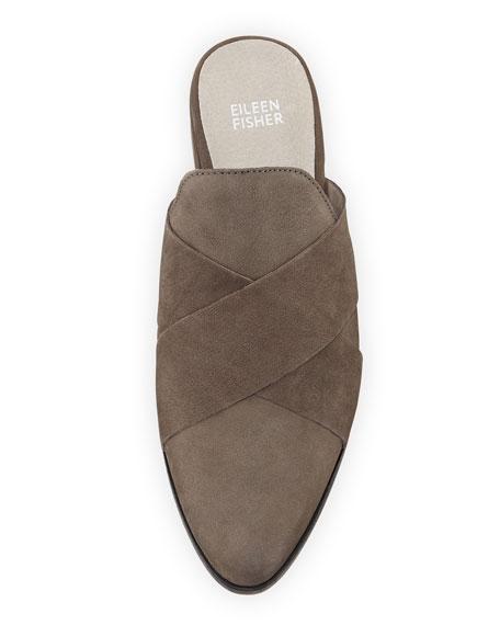 Bauer Crisscross Flat Leather Mules