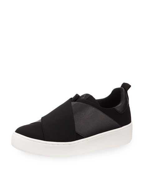 Coley Crisscross Slip-On Sneakers, Black