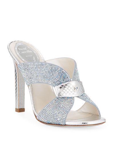 Strass Slide Mule Sandals