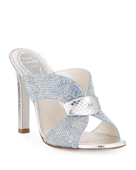 Rene Caovilla Strass Slide Mule Sandals