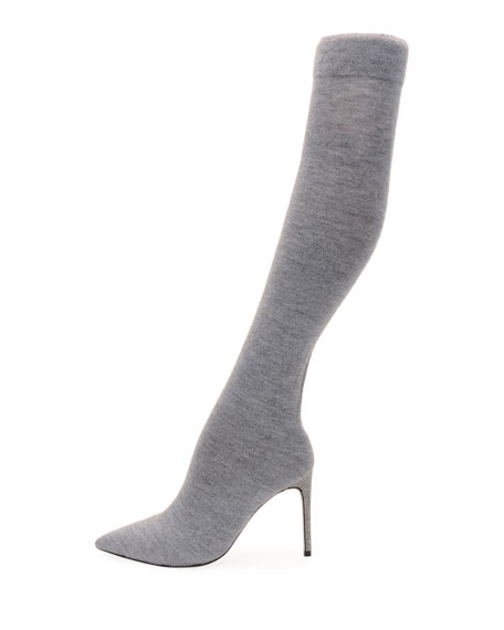 Jersey-Knit Over-The-Knee Boot
