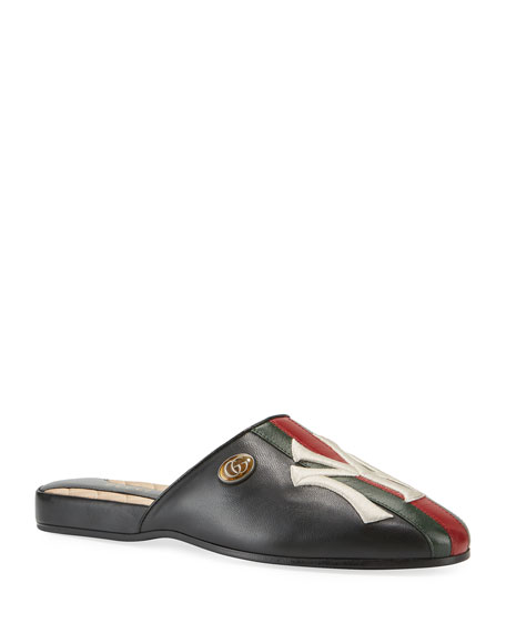 Gucci NY Yankees MLB Slipper Mules