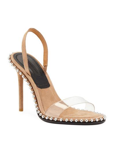 Nova Suede/PVC Slingback Sandal