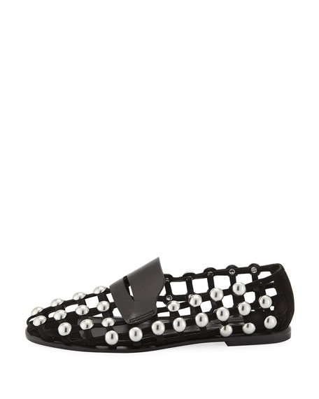 Sam Studded Suede Cage Loafers