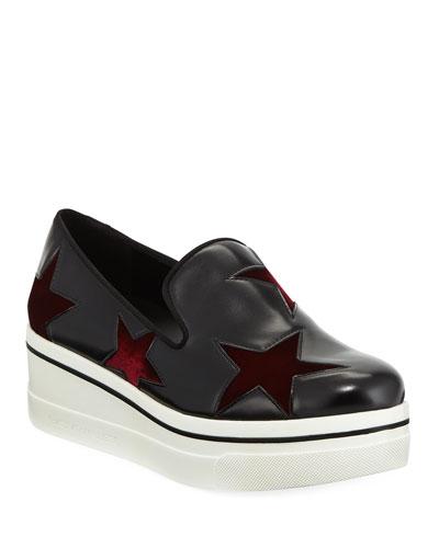 Binx Velvet-Star Platform Sneakers