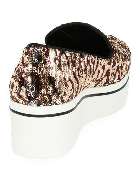 Binx Leopard Sequin Skate Sneaker