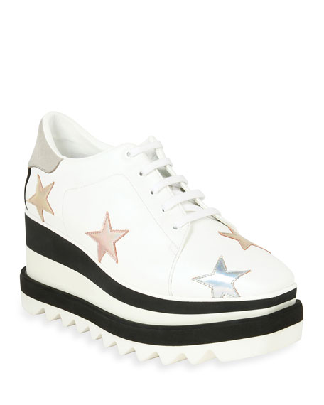 STELLA MCCARTNEY Star Embellished Platform Sneakers , White