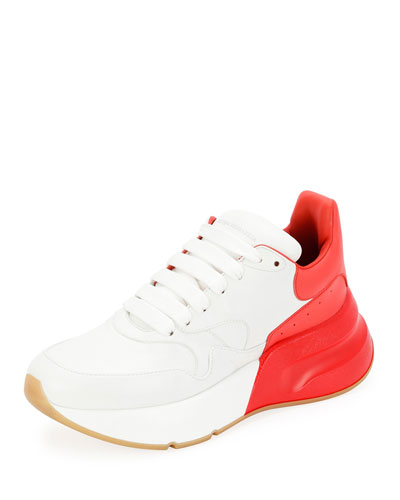 Two-Tone Platform Trainer Sneakers