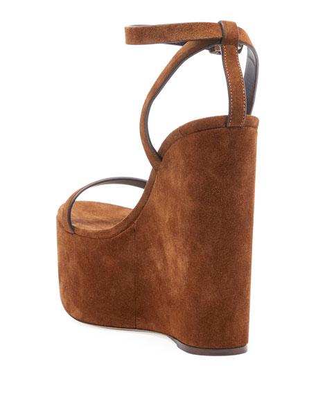 Suede Wedge Platform Sandal