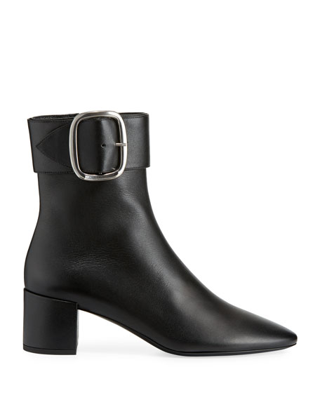 LouLou Suede Buckle Bootie
