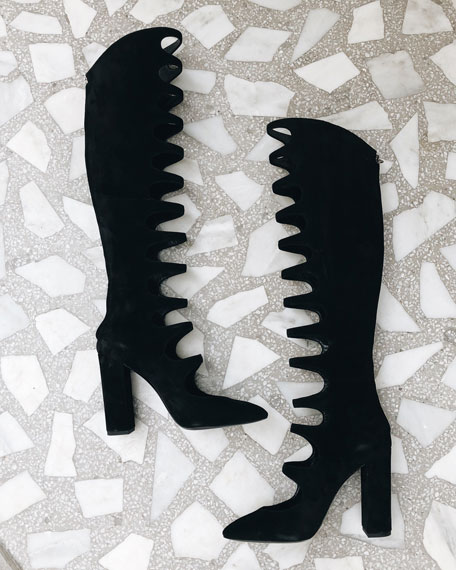 Joplin Cutout Suede Over-The-Knee Boot