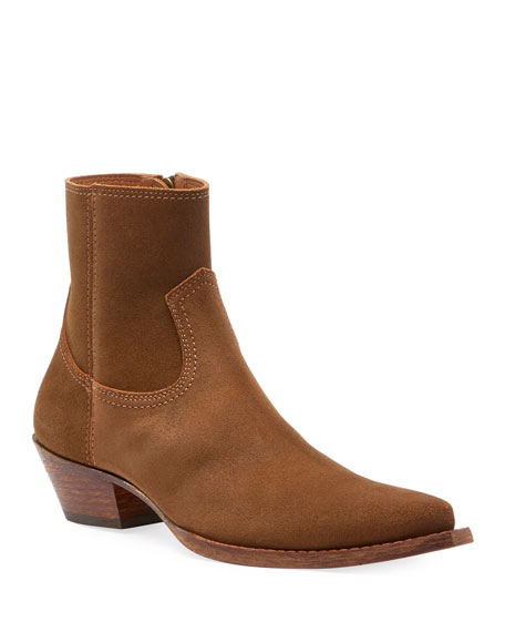 Saint Laurent Lukas West Wyatt Suede Ankle Boots