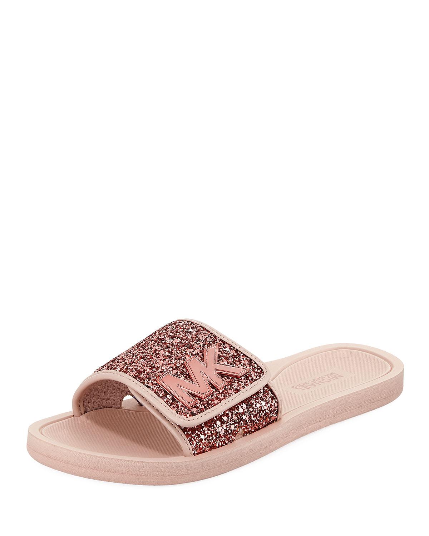 b19e108d27ec MICHAEL Michael Kors MK Glitter Slide Sandal