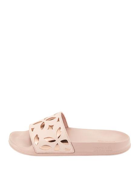 Mimi Flower Cutout Pool Sandal