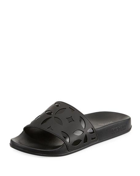 MICHAEL Michael Kors Mimi Flower Cutout Pool Sandals,