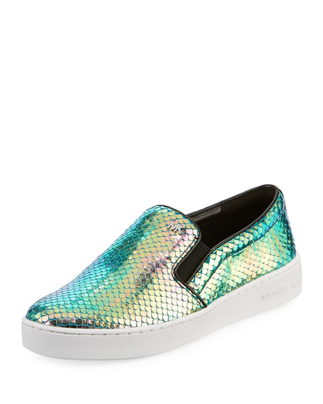 MICHAEL Michael Kors Keaton Iridescent Low-Top Sneakers