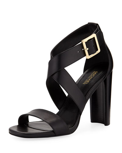 Shia Leather High Sandal